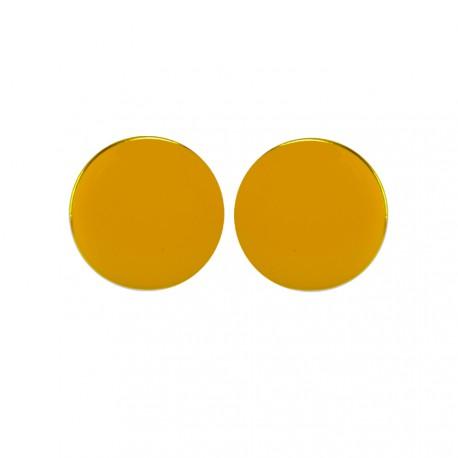 Apvalūs geltonos spalvos auskarai