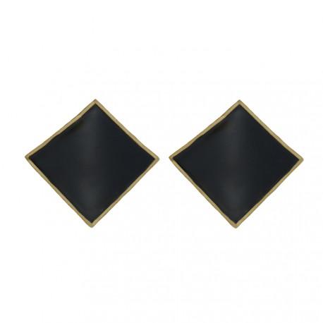 juodos spalvos auskarai