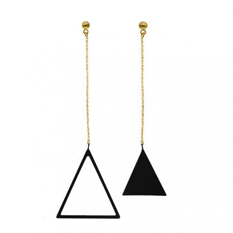 """Skirtingų ilgių auskarai """"Trikampiai"""""""